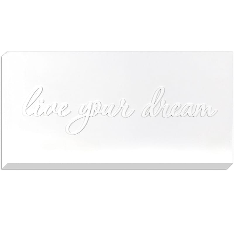 20X40 Live Your Dream Shiny Canvas With Lifted Words