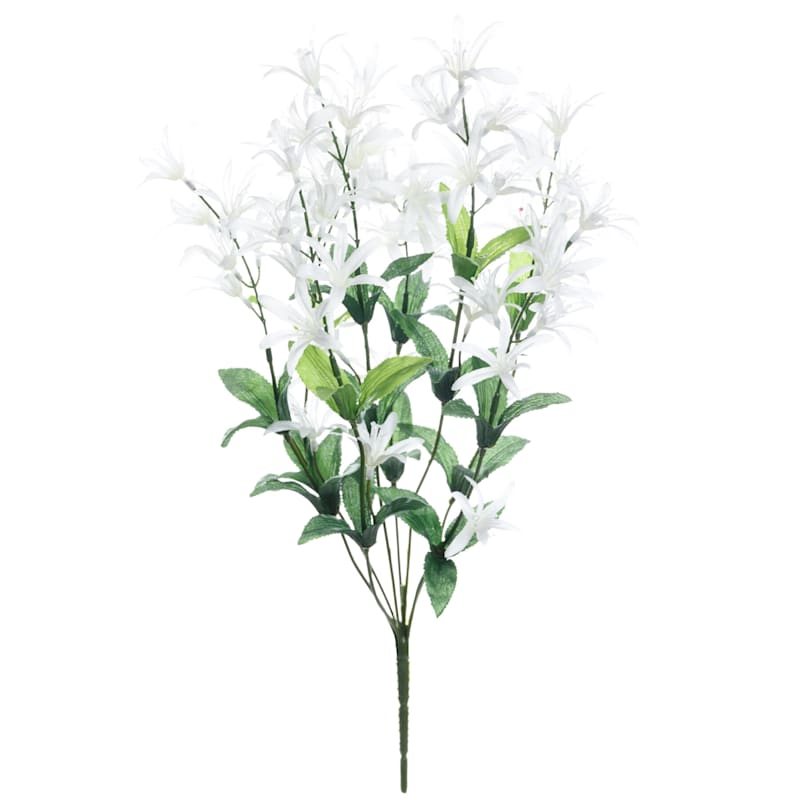 Mini White Lily Bush, 19""
