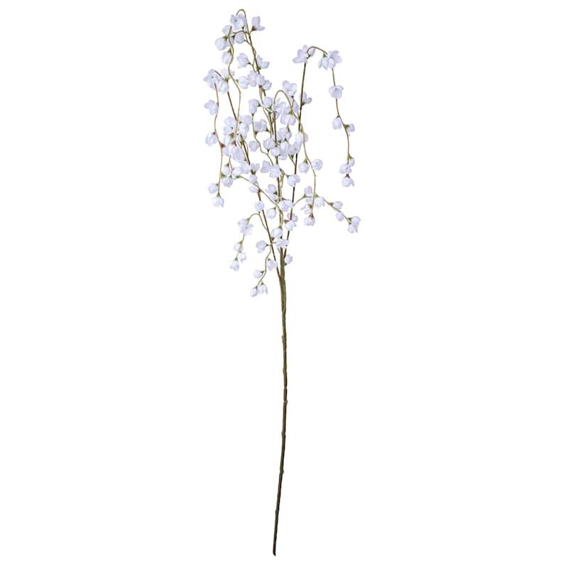 47in. Wax Flower Sprayx4 White