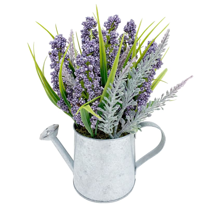 Lavender Berry Tin Water Can