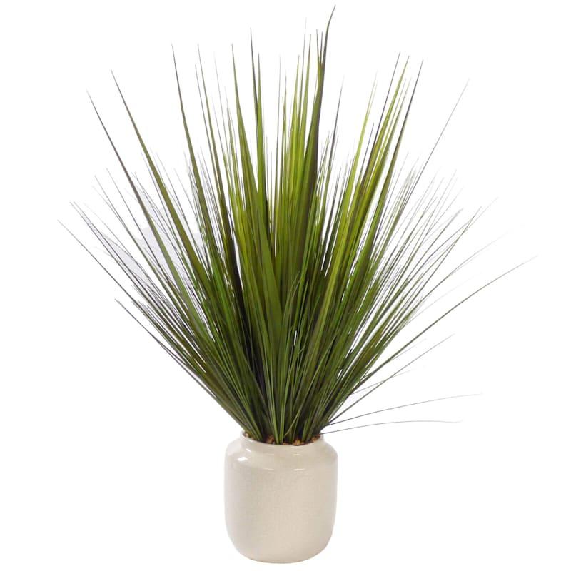 33in. Grass In White Pot