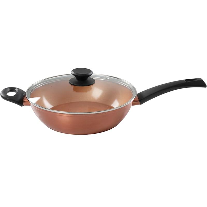 Hummington 3qt Aluminum Covered Saute Pan Metallic Copper
