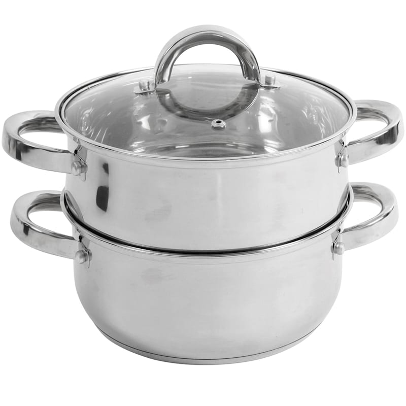 Sangerfield 3qt Stainless Steel Steamer Set W/Lid Steamer Insert Mirror Finish