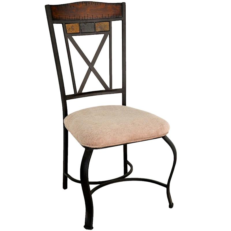 Hyatt Brown Metal Dining Chair