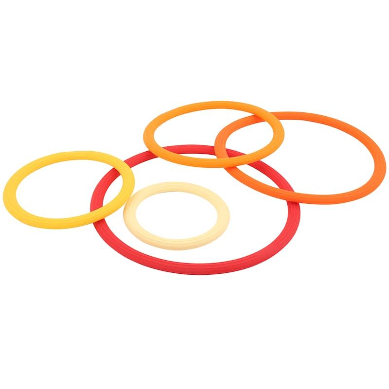 Multicolor 5-Piece Silicone Trivet