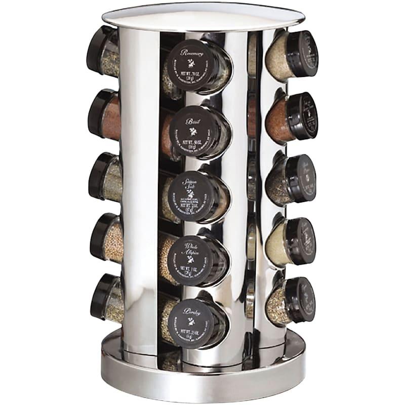 20 Jar Stainless Spice Rack