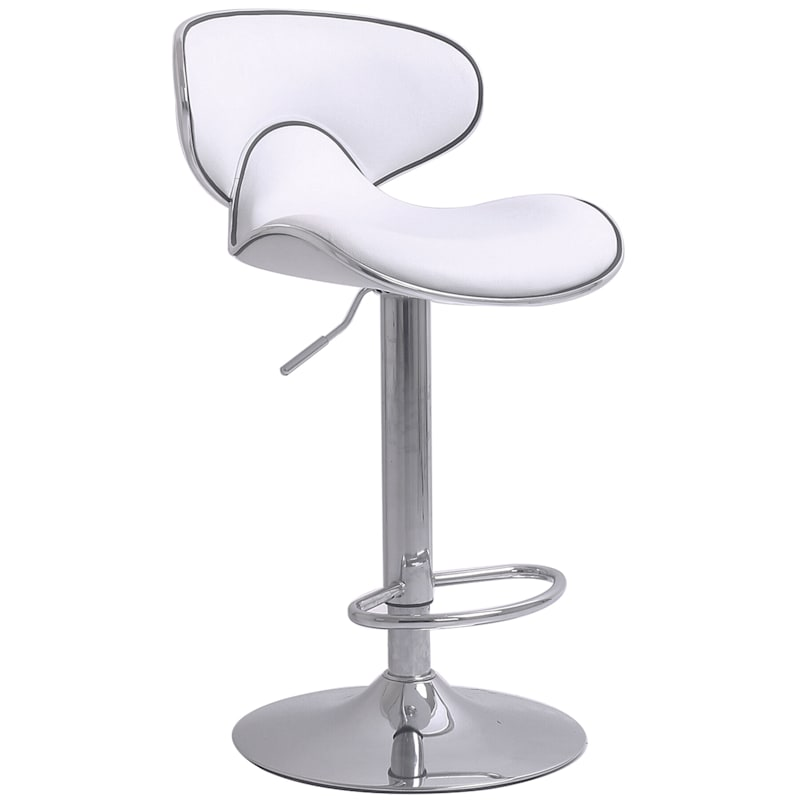 Duo Adjustable Barstool -White 34-in.