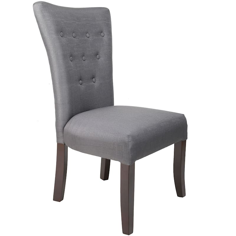 9 Button Charcoal Parsons Chair