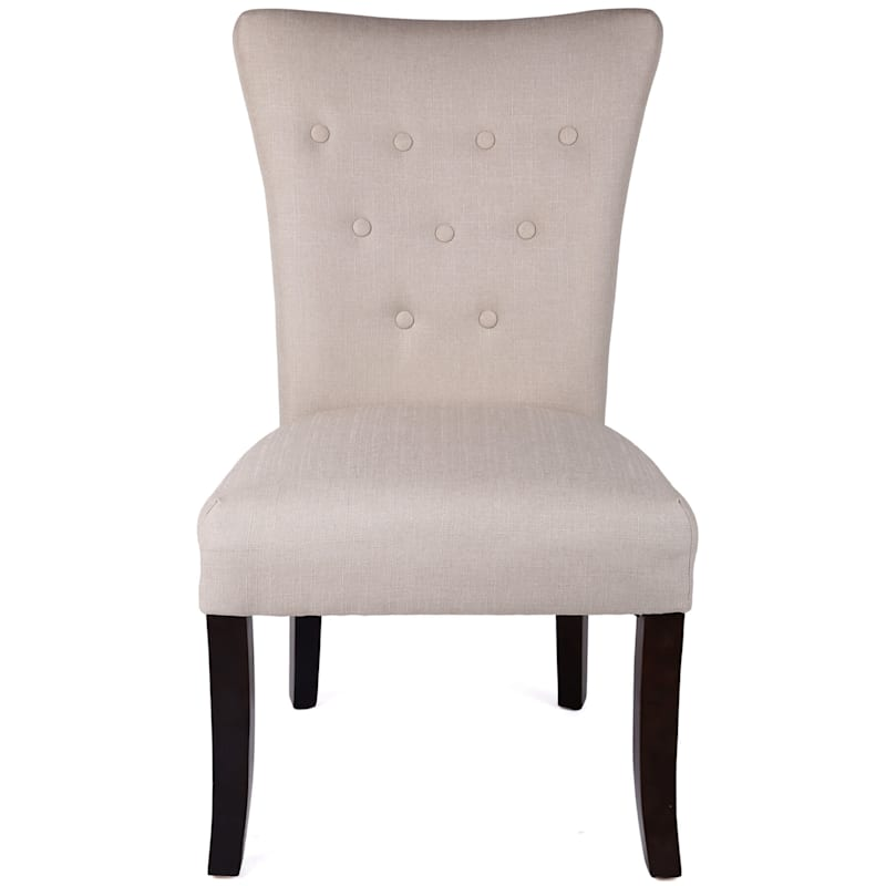 9 Button Ivory Parsons Chair