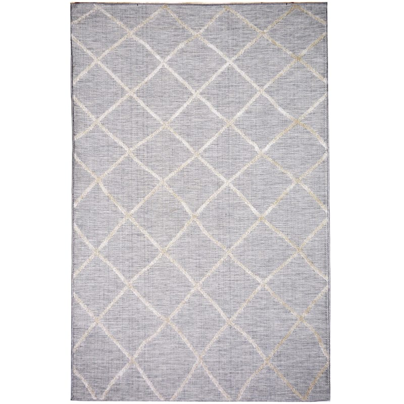 (E184) Grey & Beige Outdoor Moroccan Design, 2x4