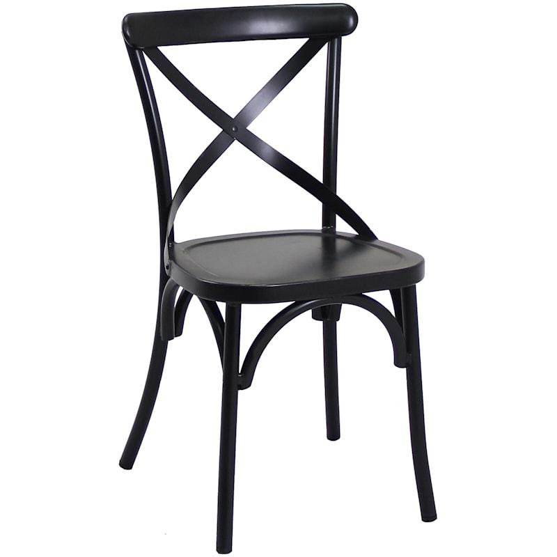 Somerset Black Metal Industrial Farm House Dining Chair