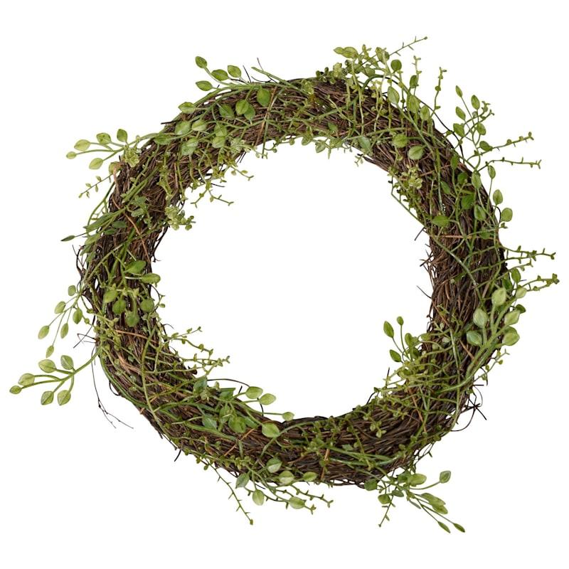 9in. Plastic Mini Twig Wreath.