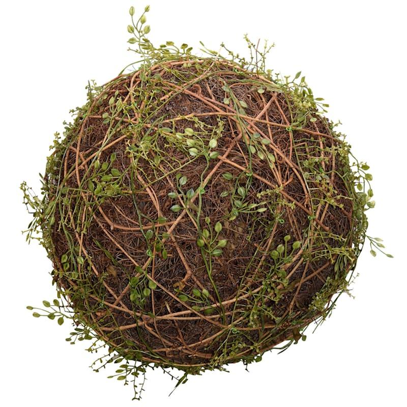 12in. Mini Leaves Twig Ball