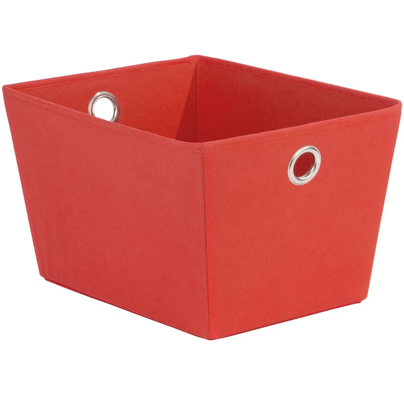 Tapered Tote W/Grommet Red