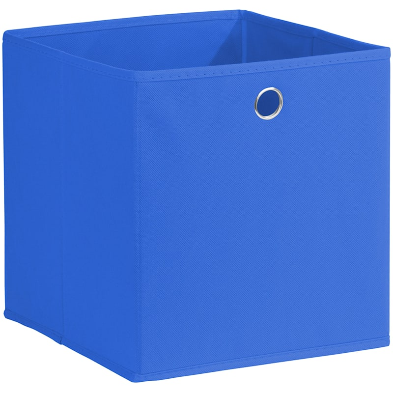 Kid Fabric Cube Tote Blue