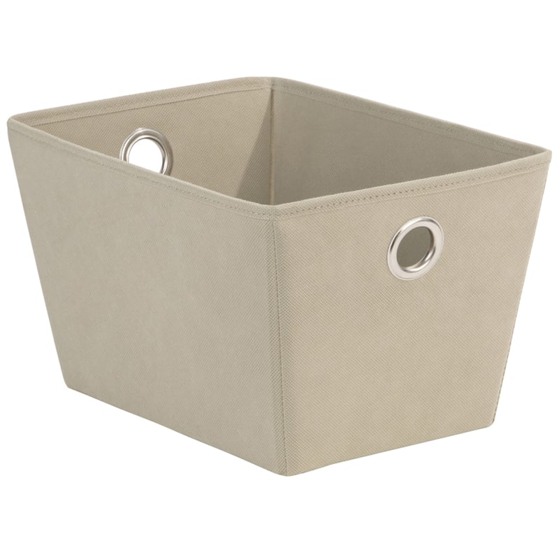Tapered Tote/Grommet Taupe