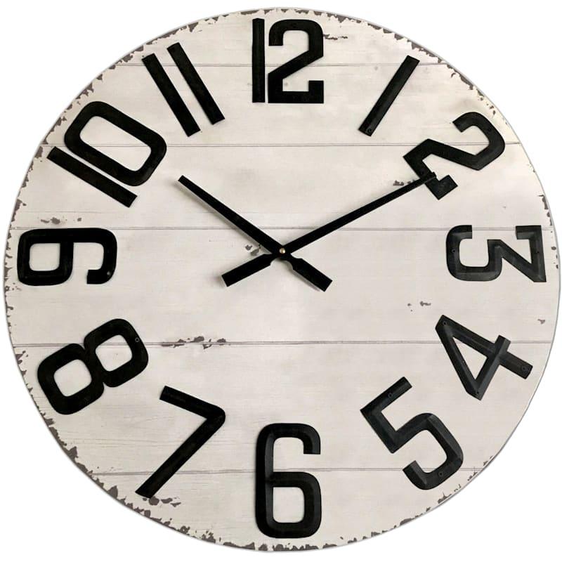 24in. Gold Metal Clock