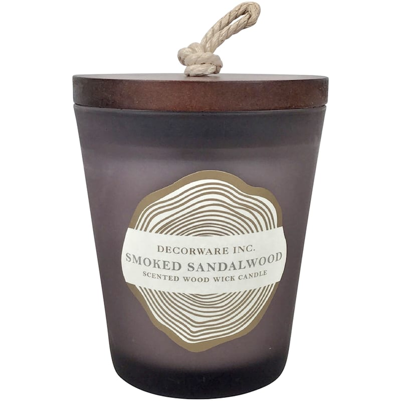 7oz Wood Wick Jar Candle Grey