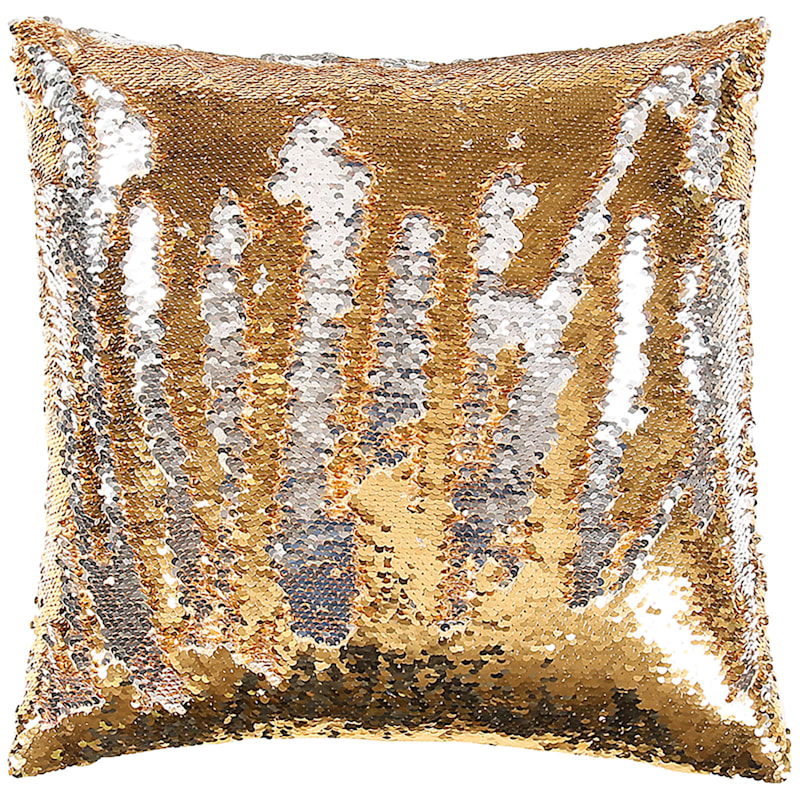 Gold/Silver Mermaid Sequin Pillow 18X18