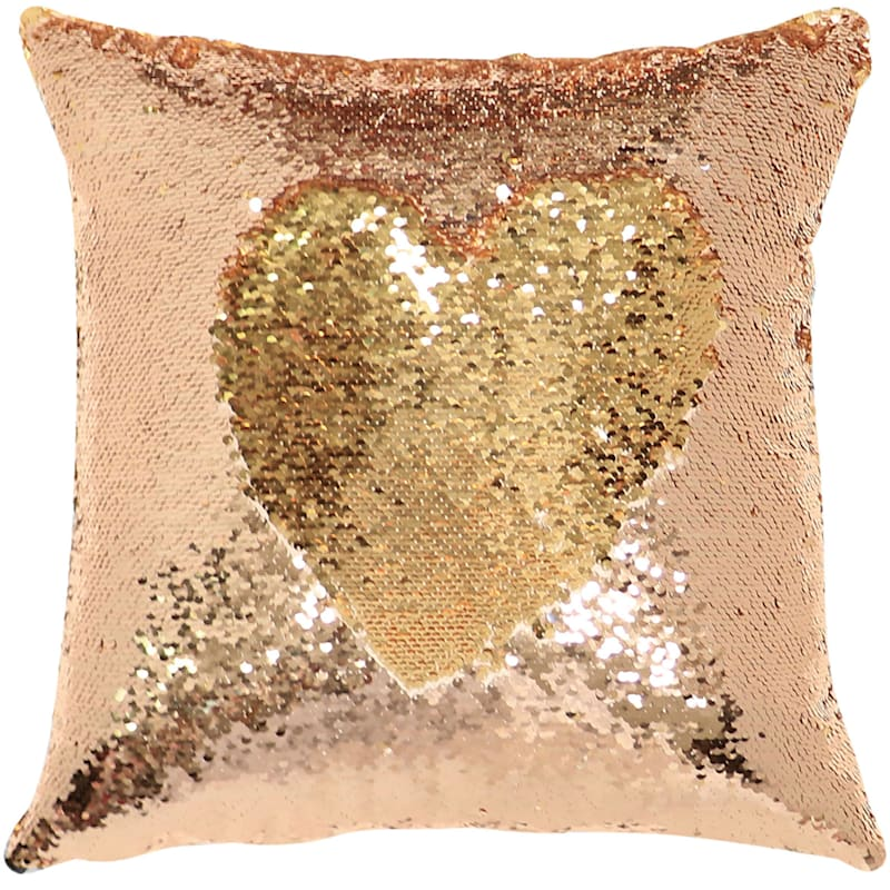 Rose Gold/Gold 1Mermaid Sequin Pillow 8X18