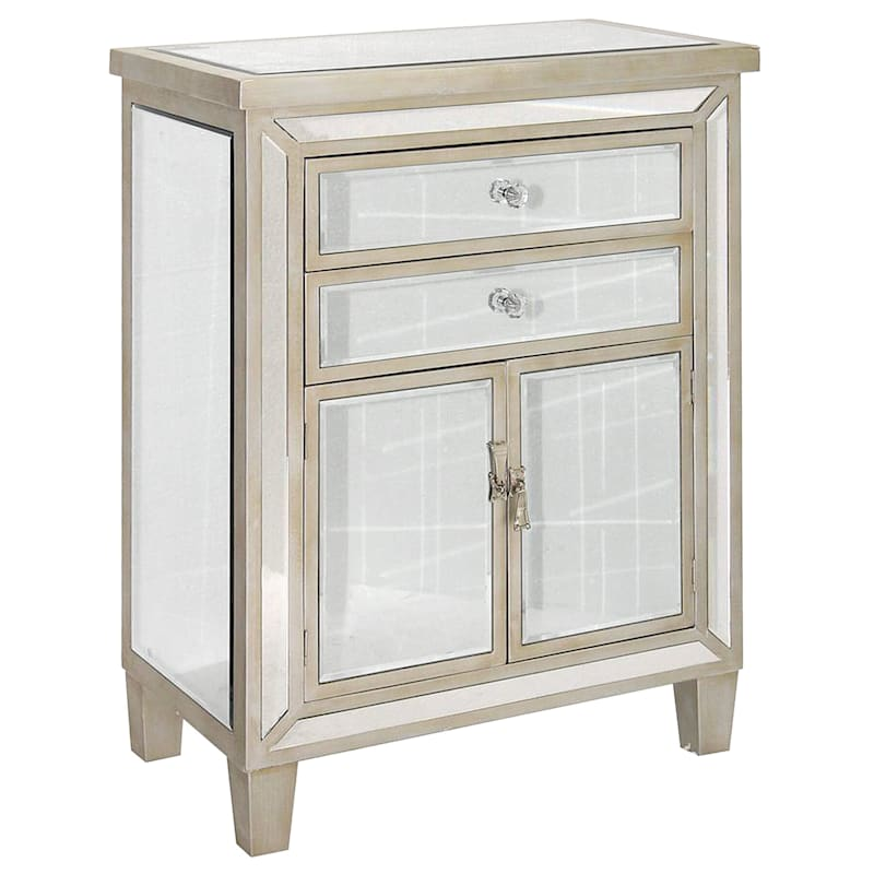 Mirrored Cabinet with 2-Drawers and 2-Doors