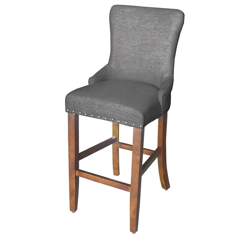 English Arm Barstool - Charcoal