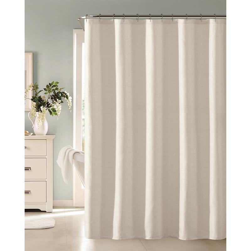 Lincoln White Metallic Shower Curtain 70X72