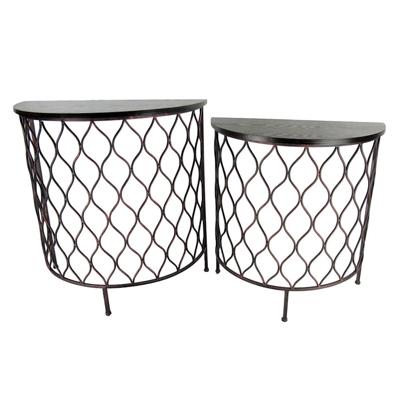 Nested Steel Onion Half-Moon Table- Small (Sold Separately)