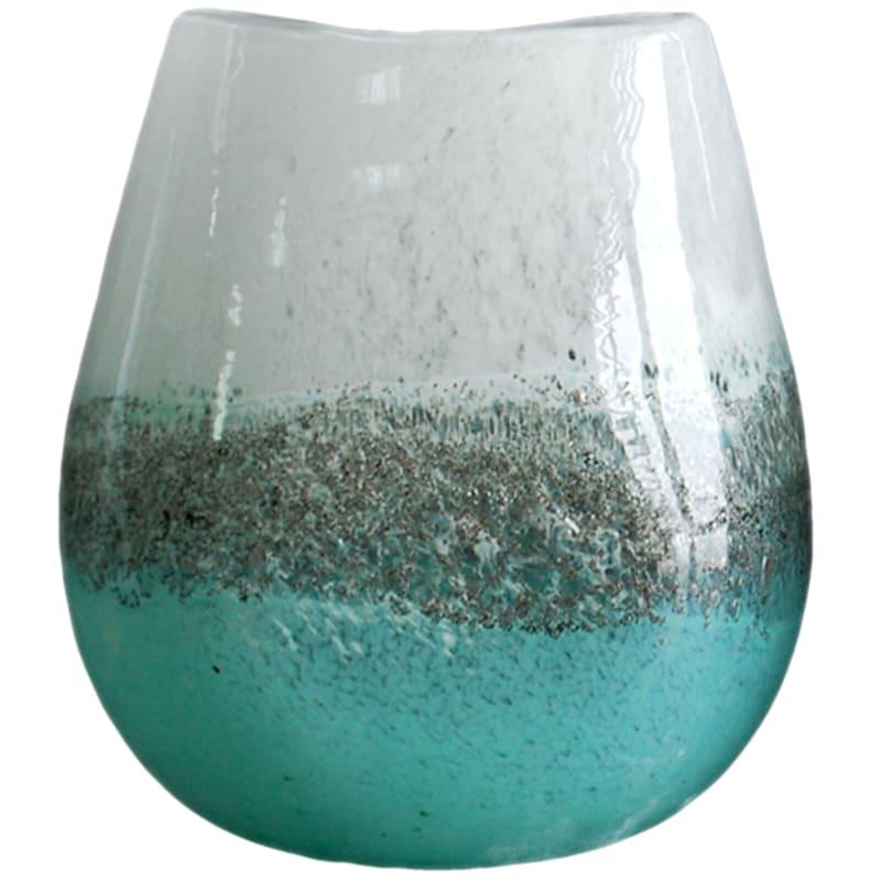 9.4in. Green Art Glass Vase