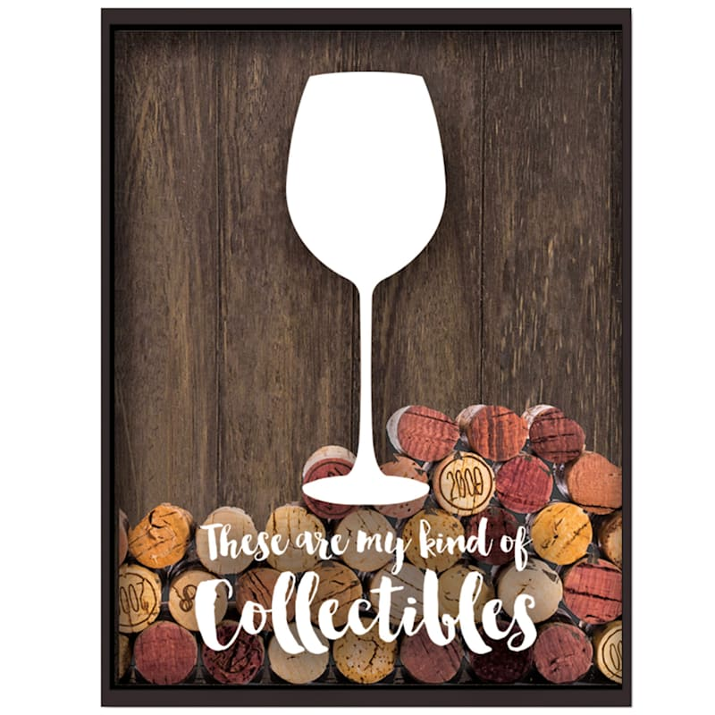 14X11 Wood Collectibles Wine Cork Holder Wall Art