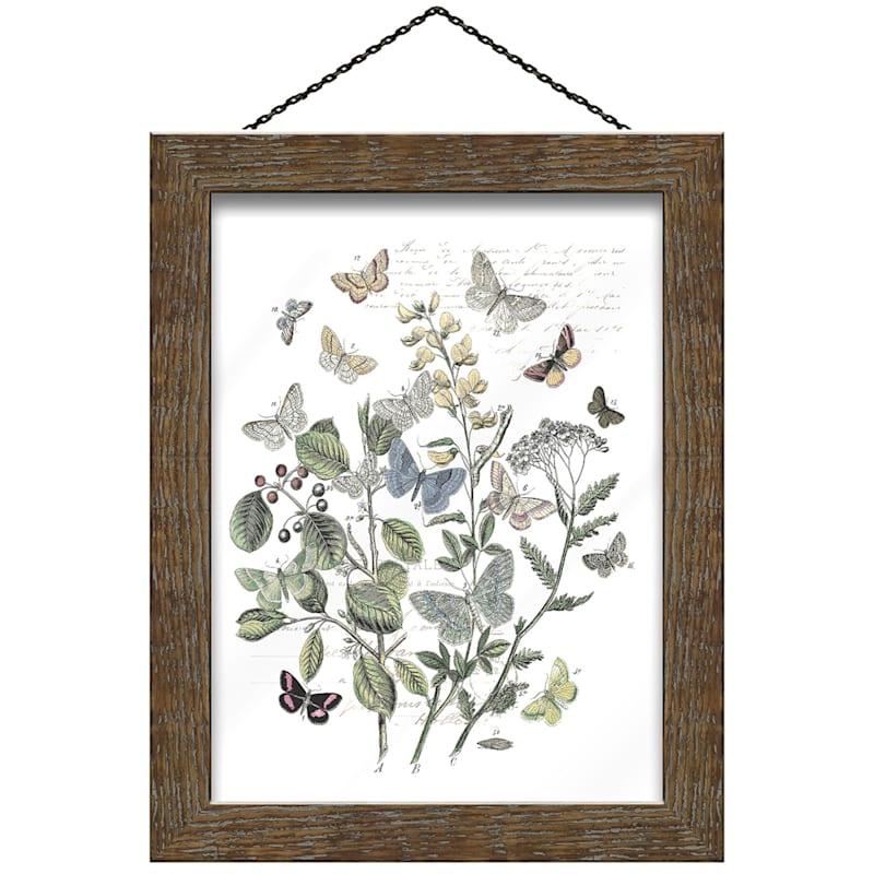 14X11 Butterflies Print Under Glass Wall Art