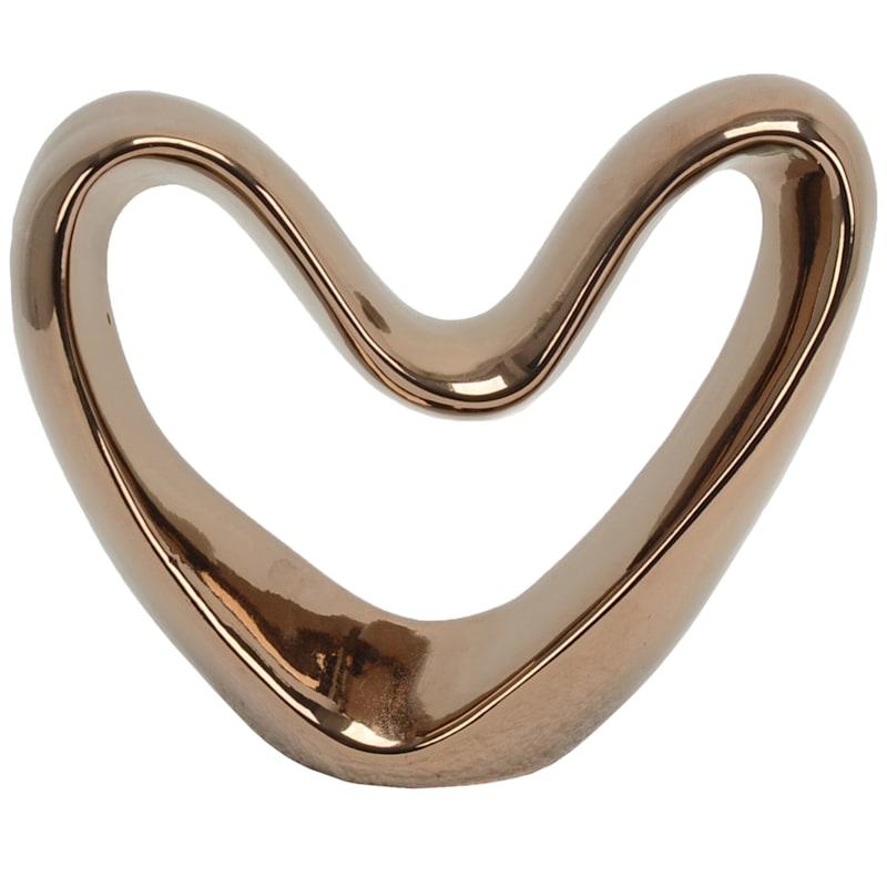 12X9 Ceramic Heart Decoration