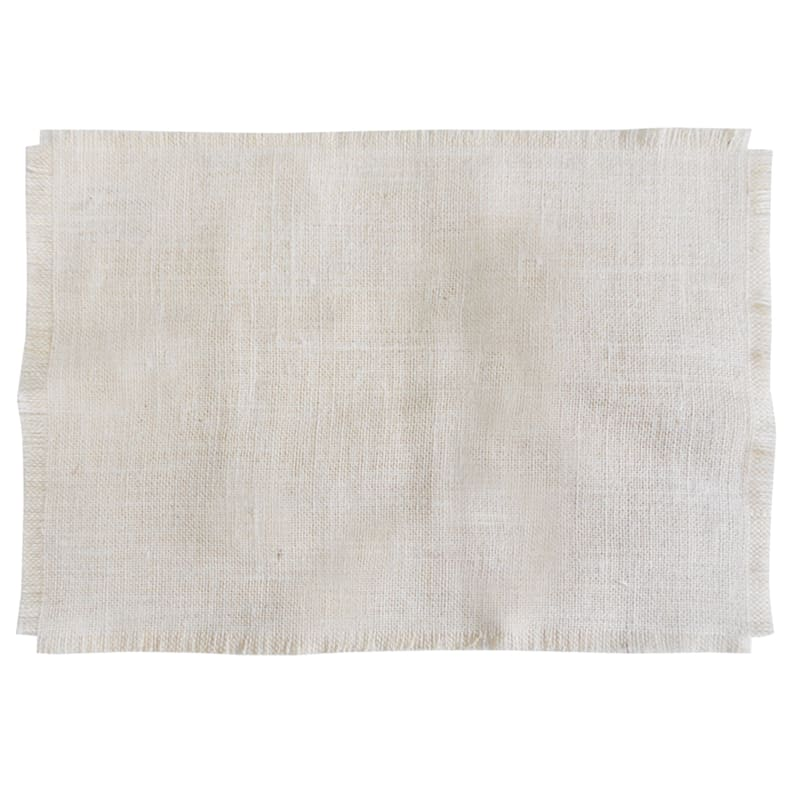 Burlap Fabric Ivory Colored Placemat