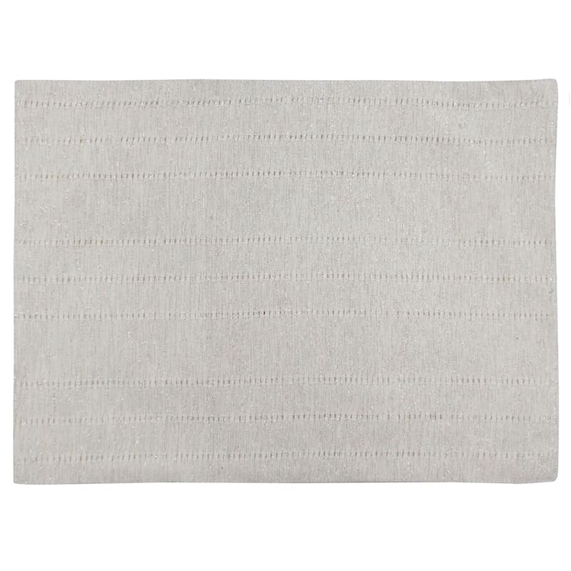 White Woven Mylar Fabric Placemat