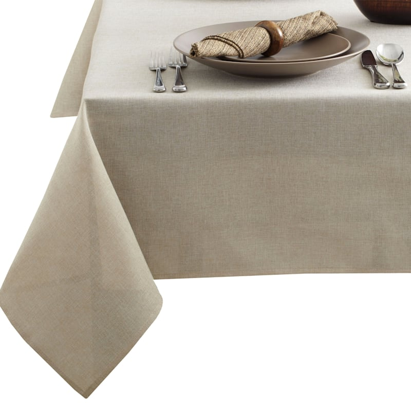 Tweed 60X84 Table Cloth Flax