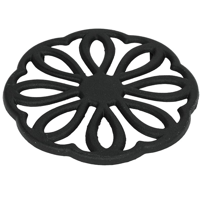 7in. Black Cast Iron Trivet