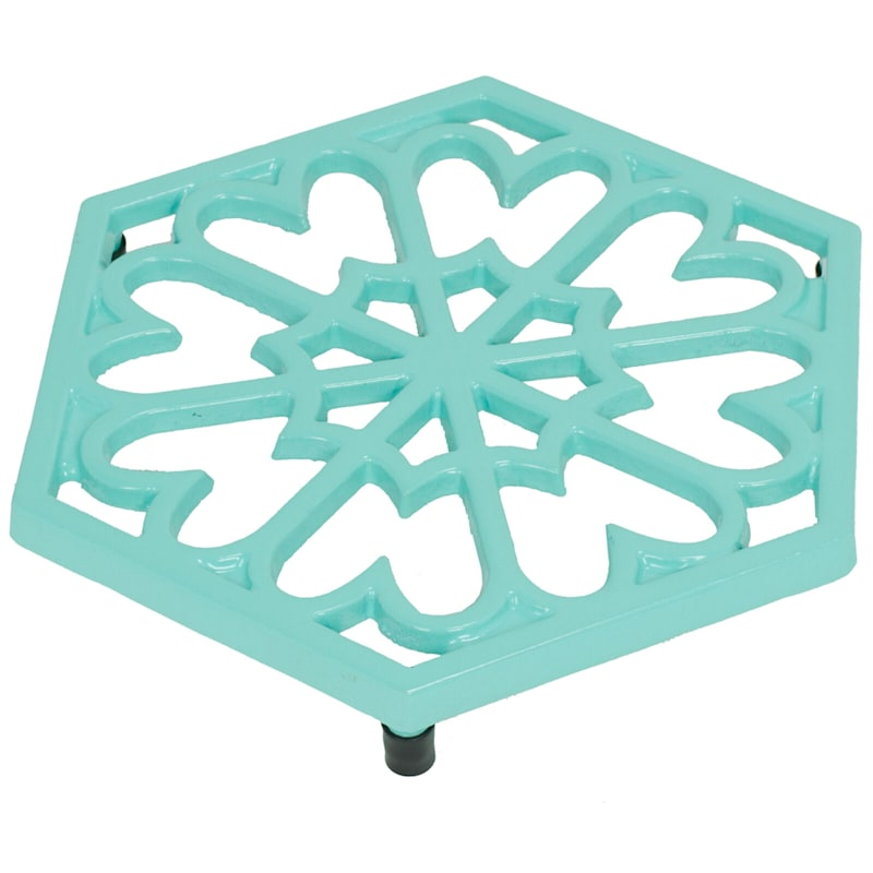 Teal Cast Iron Trivet