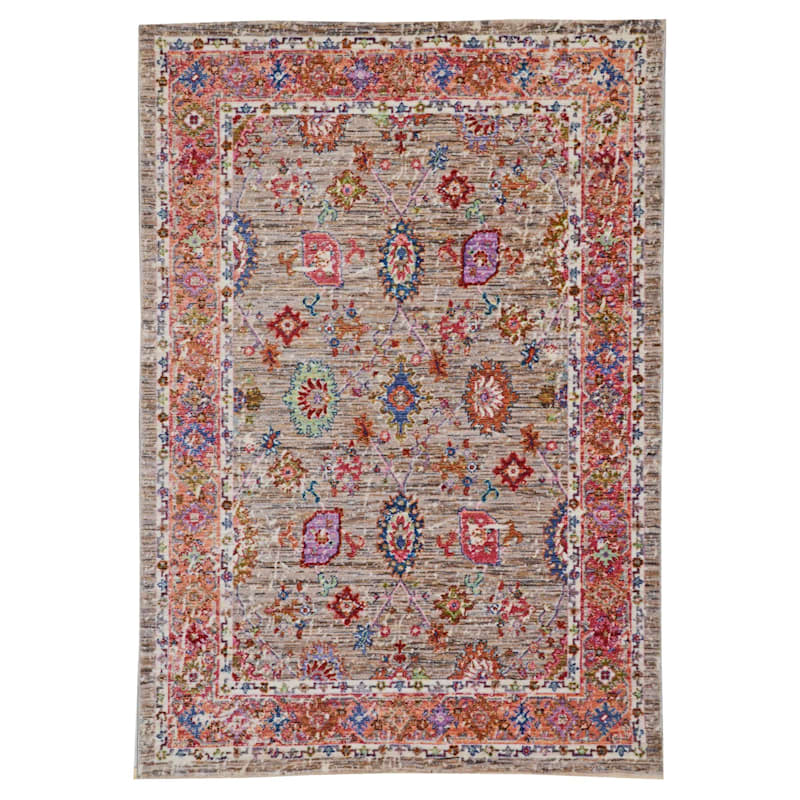 (A373) Multi Colored High End Border Rug, 8x10