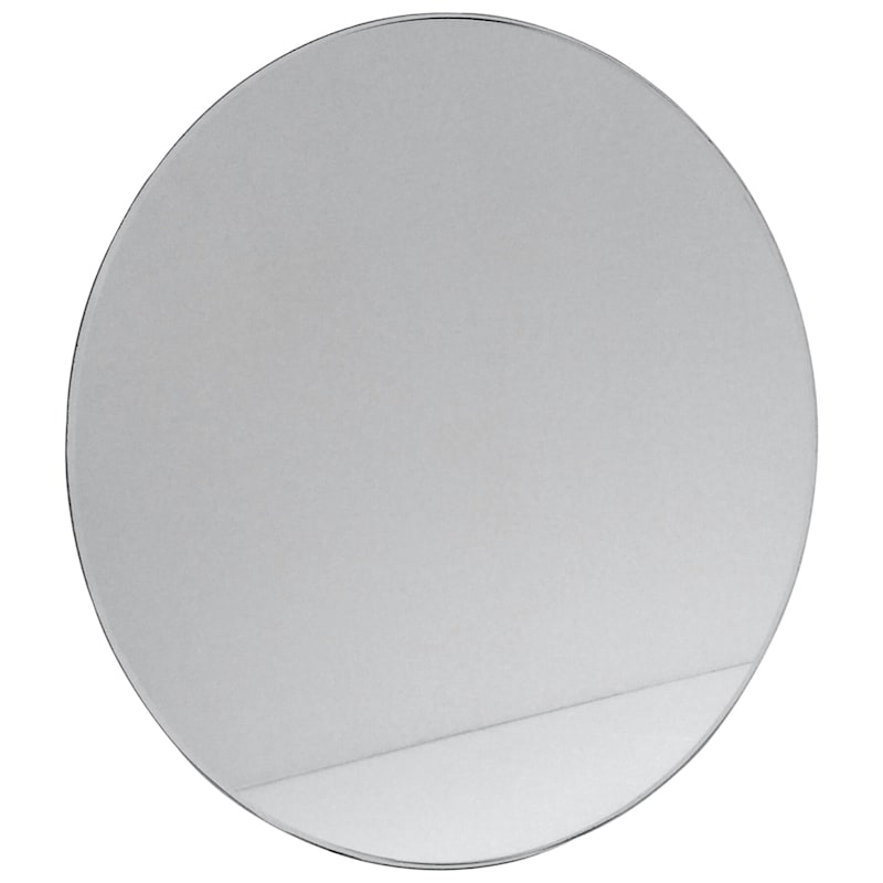 Round Clear Tempered Glass Table Top With Beveled Edge, 24""