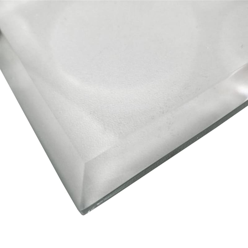 Rectangle Clear Tempered Glass Table Top With Beveled Edge 20in. X 40in.