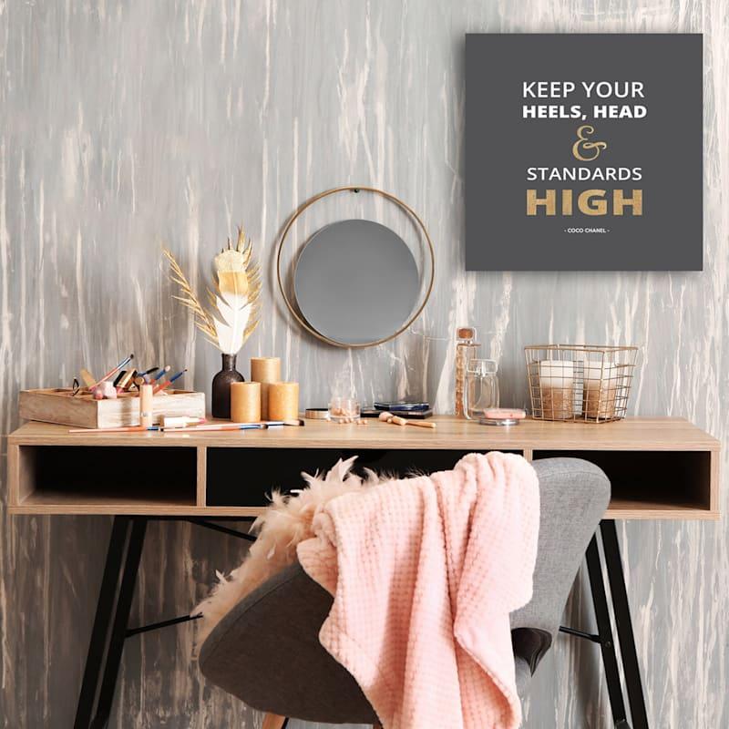 15X15 Keep Youre Heals High Foiled Canvas Art