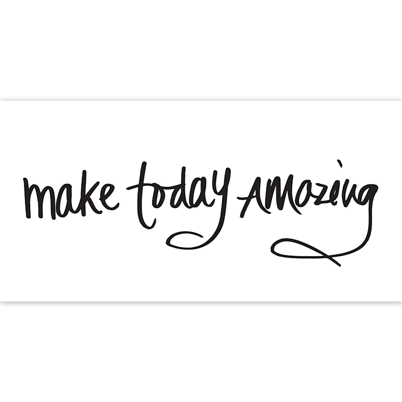 30X15 Make Today Amazing Canvas Art