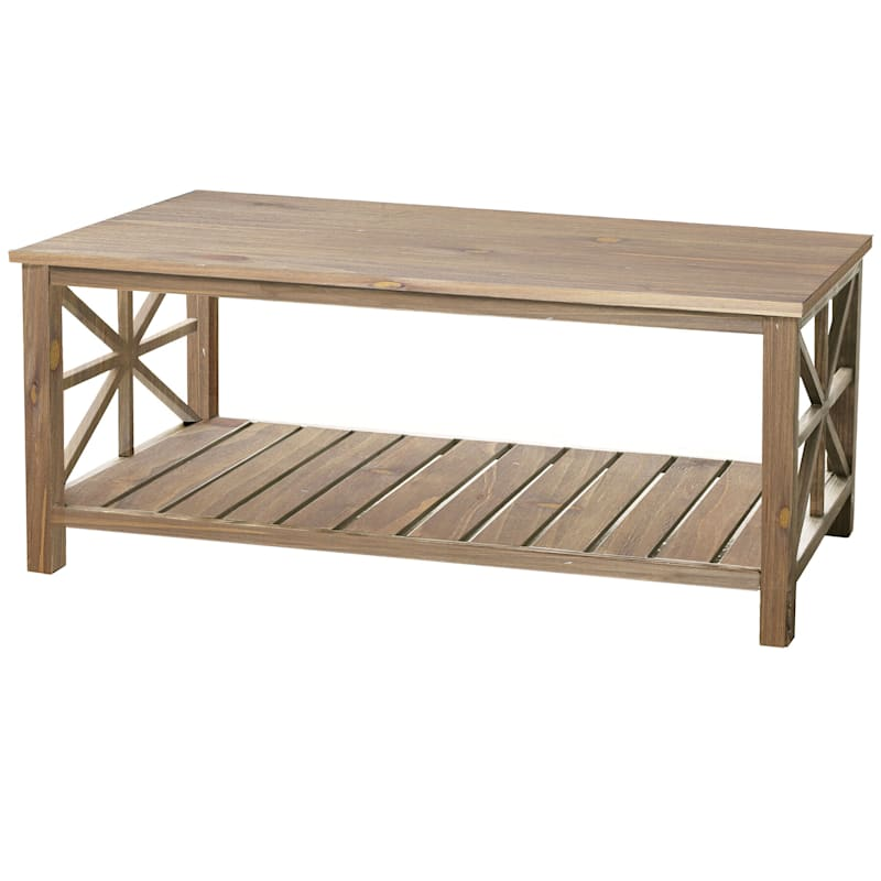 Natural Paneled Wood Coffee Table