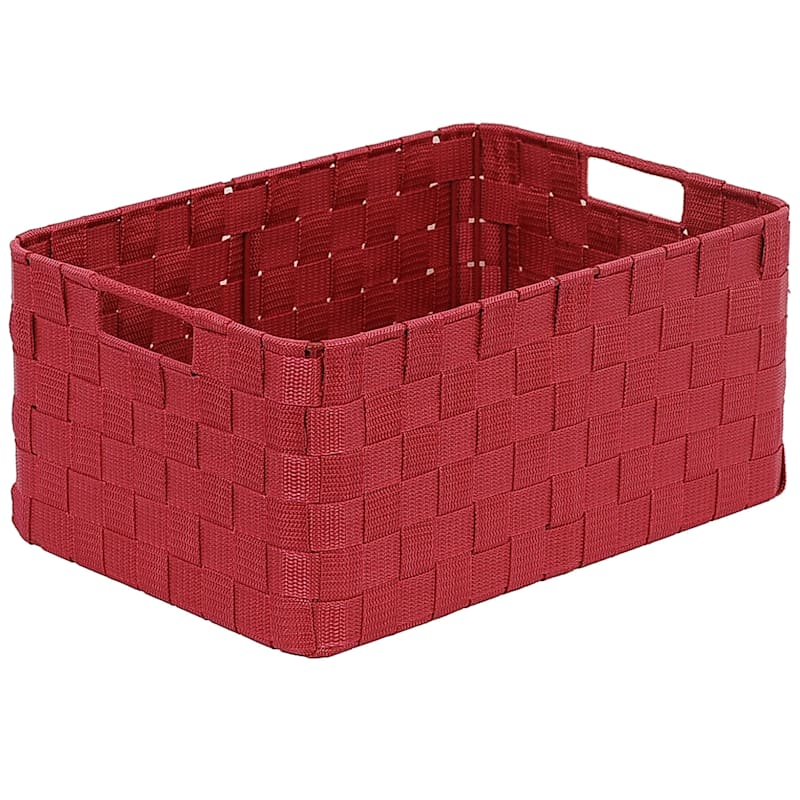 Small Nylon Round Corner Basket Red
