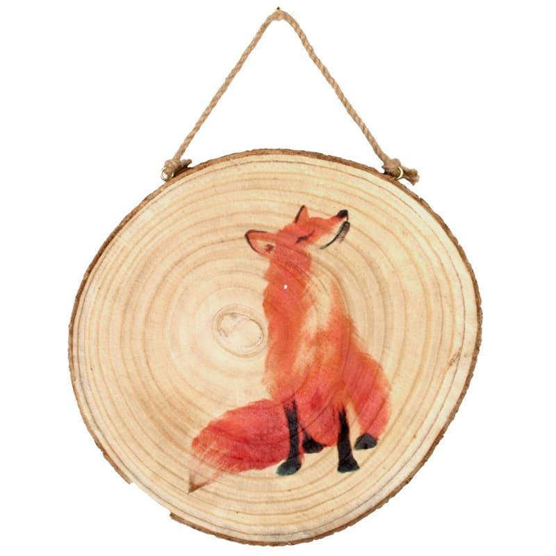 11X11 Fox Wood Plaque