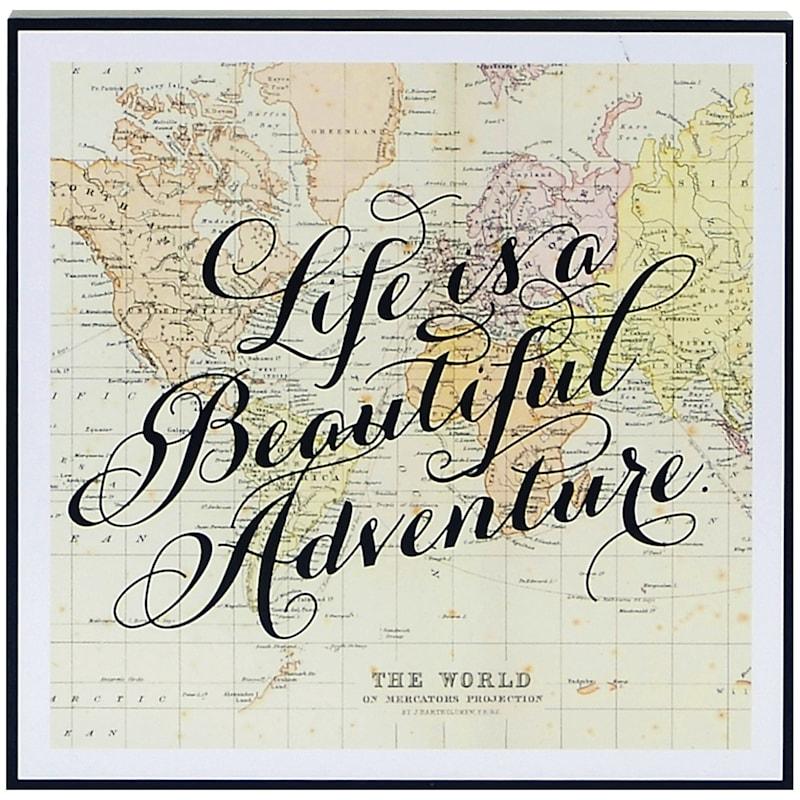 12X12 Life Is A Beautiful Adventure Tabletop Wood Block