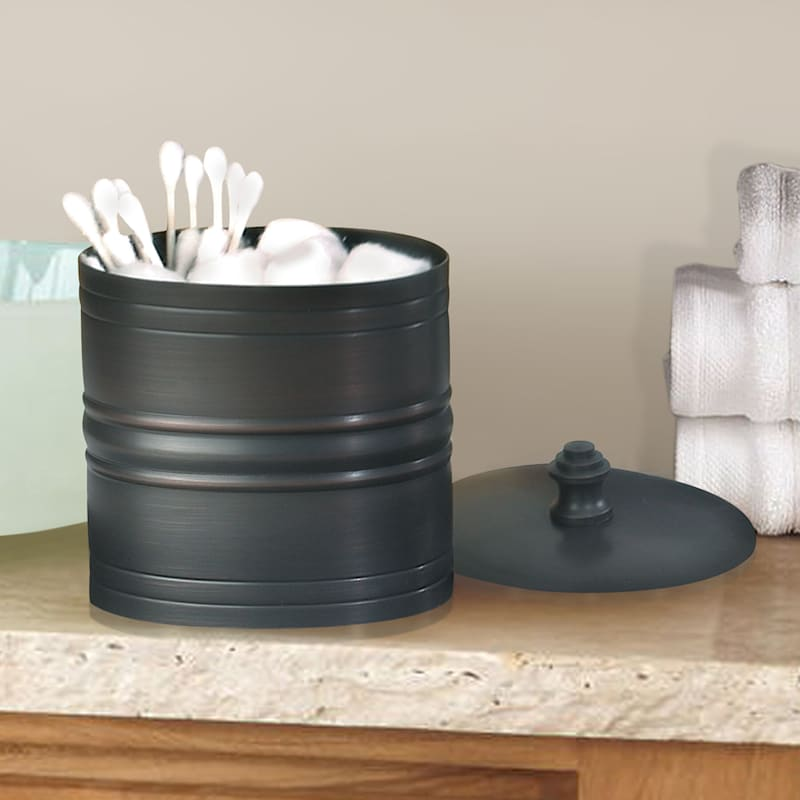 Bogart Brown Metal Cotton Container