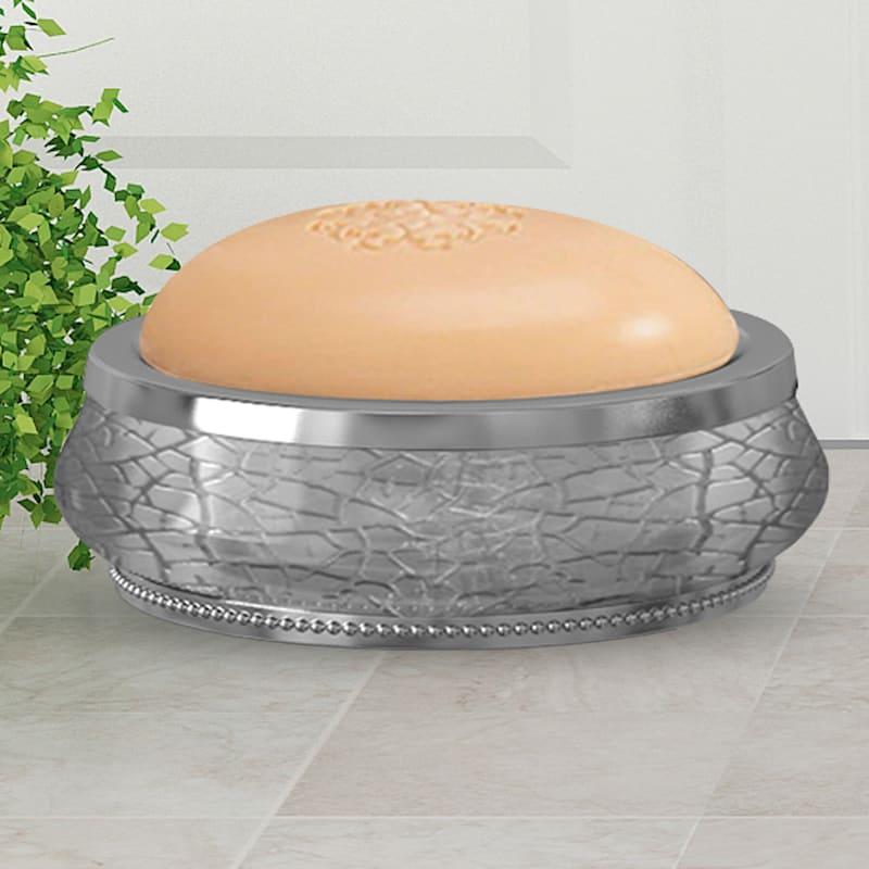 Regal Silver Glass Soap Dish