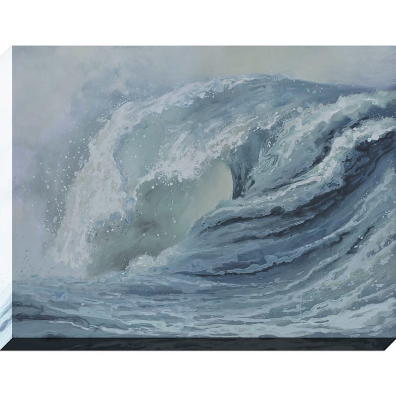 36X48 Incoming Wave Enhanced Canvas