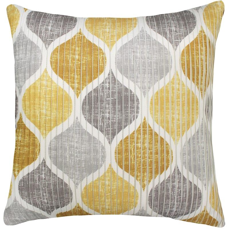 Hollis Gold/Grey Pleated Pillow 18X18